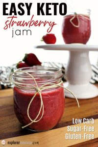 Easy Keto Strawberry Jam is sugar-free and bursting with flavor! #sugarfreejam #ketorecipes