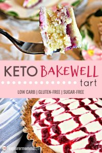 A Keto Bakewell tart is the perfect low carb dessert addition to any tea or picnic, even for tonight's gluten-free dessert! Sugar-free and delicious, the family will love this keto diet treat. #ketodesserts #lowcarbdessertsketo #lowcarbdesserts