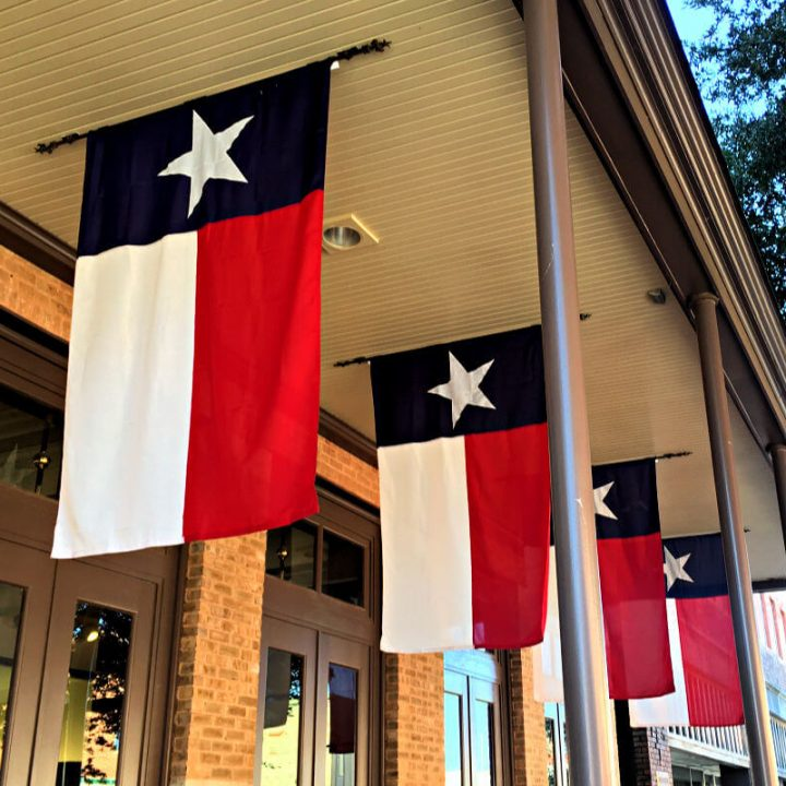 Find things to do in Abilene TX as you walk by the Texas flags. #familytravel #abilenetx