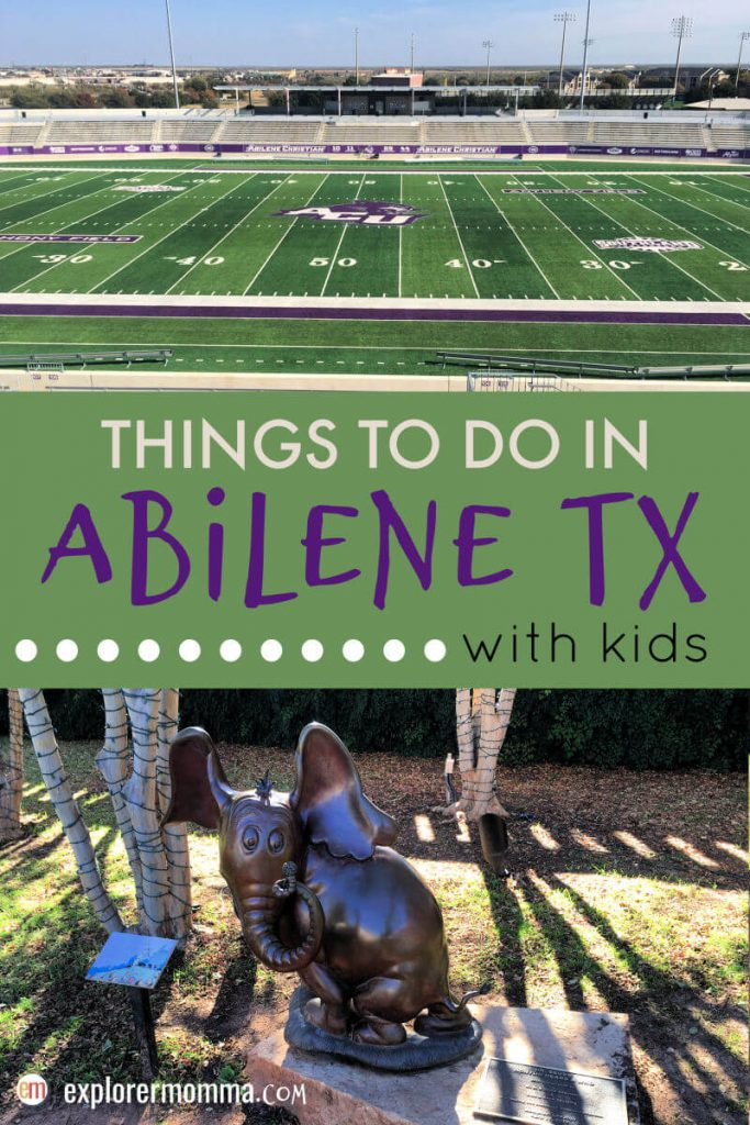 Top things to do in Abilene TX with kids and families. Visit a university, friends, and explore its cultural heritage. #acuedu #abilenetx #familytravel