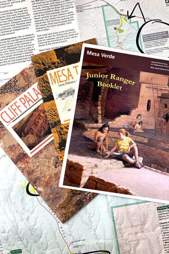 Mesa Verde map and info, Junior Ranger program