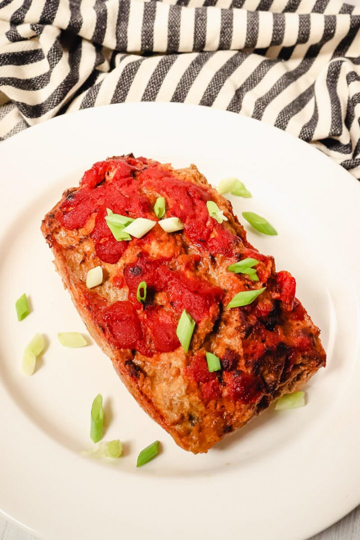 Keto Turkey Meatloaf on plate