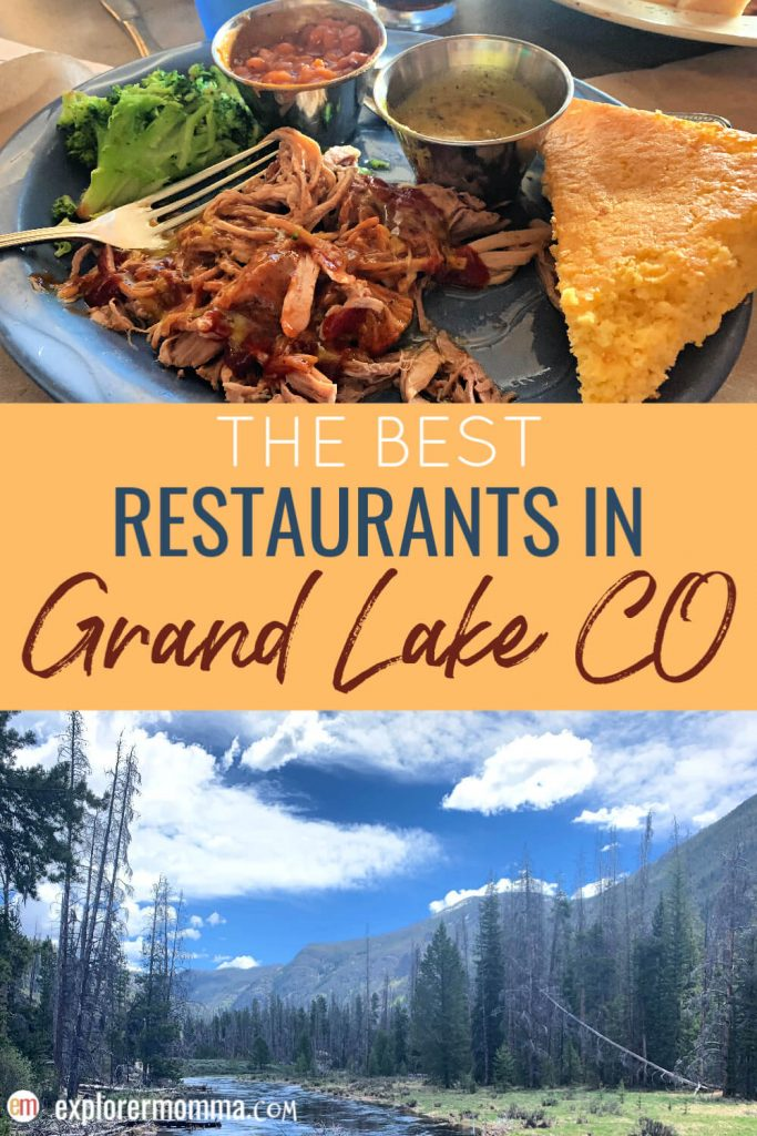 The Best Restaurants in Grand Lake CO, family-friendly Grand Lake Restaurants. #grandlakeco #grandlakerestaurants