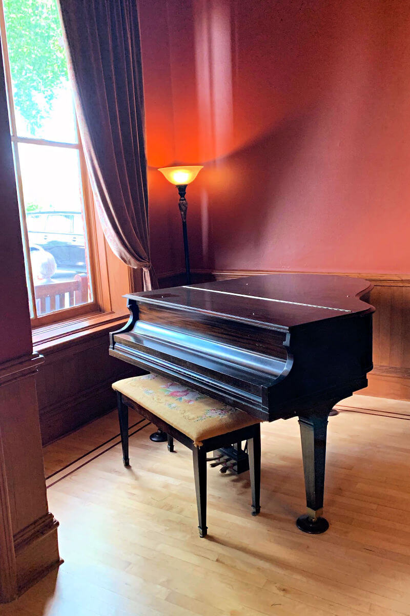 Piano at the Grand Union Hotel, Fort Benton Montana #visitmontana #montanamoment