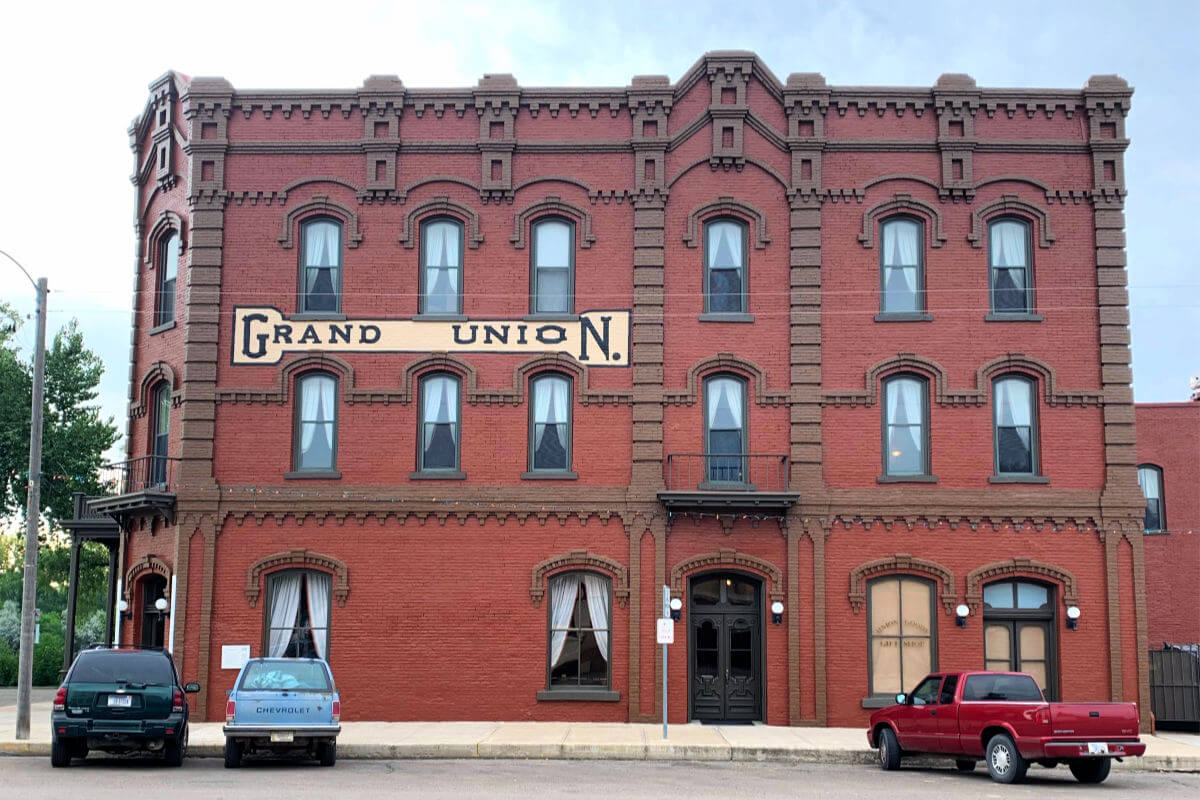 The oldest operating hotel in Montana, the Grand Union Hotel in Fort Benton Montana. #fortbenton #visitmontana #centralmontana