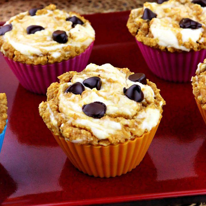 Keto Pumpkin Muffins on a plate