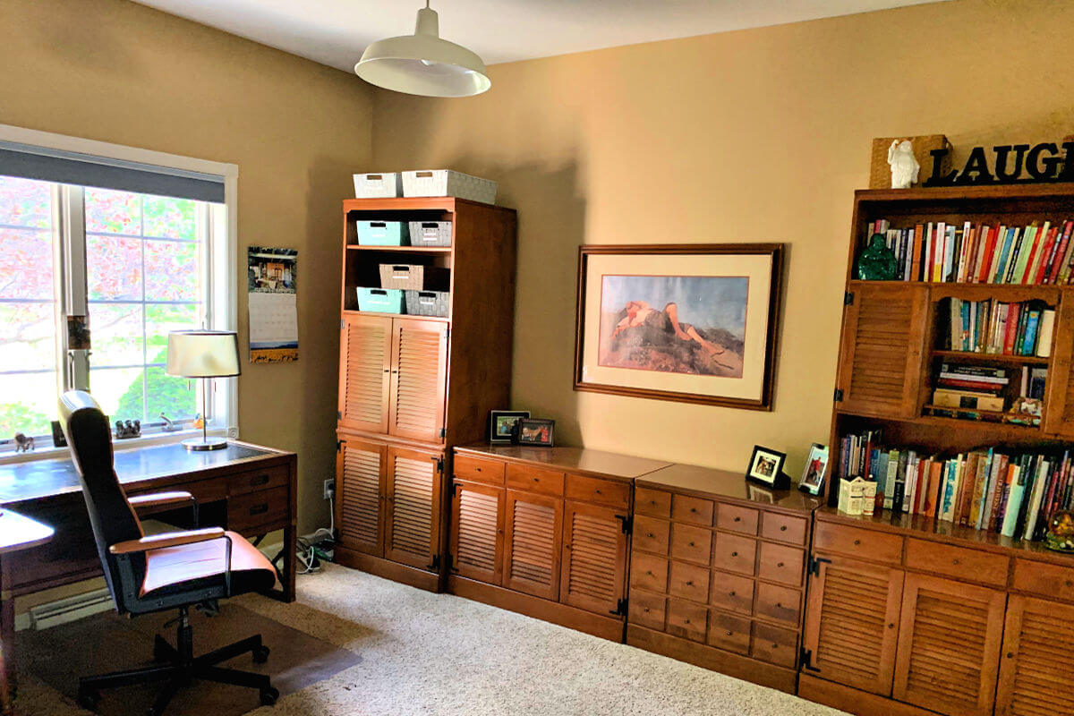 Meet the author Brenda Felber's writing office