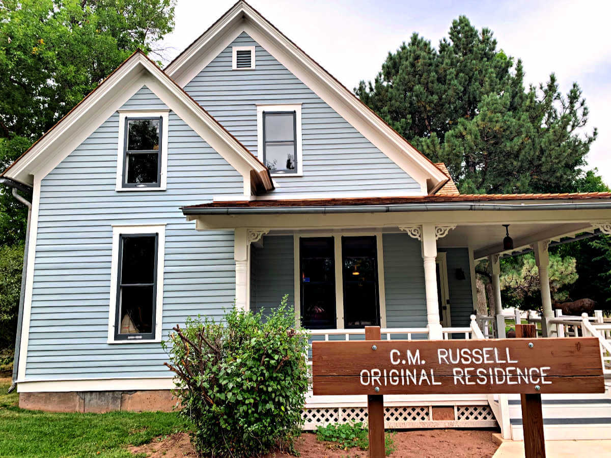 CM Russell house, things to do in Great Falls MT #cmrussell