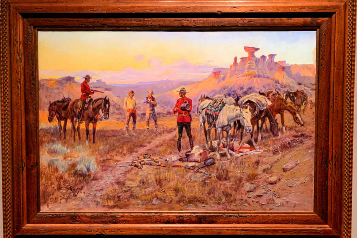Charlie Russell Museum, things to do in Great Falls MT paintings #cmrussell