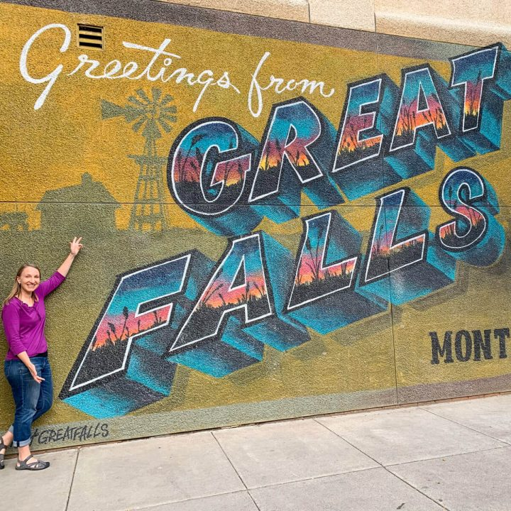 Greetings from Great Falls Montana sign