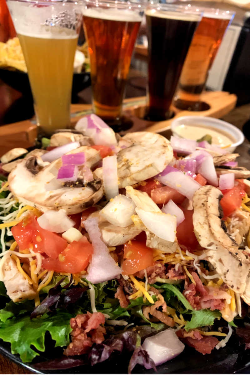 Salad at Mighty Mo brewery, things to do in Great Fall MT #mightymobrewery #greatfallsmt