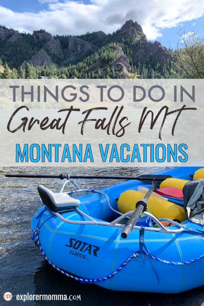 Top things to do in Great Falls MT. The perfect family vacation destination with history, wildlife, art, and, and recreation. #familyvacations #centralmontana #greatfallsmt