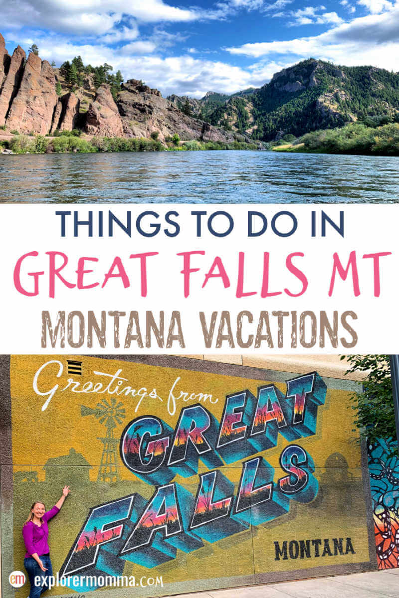 Things to do in Great Falls MT. The perfect fishing getaway or family vacation spot. History with Lewis and Clark, nature and wildlife, exploration, and good food. Montana Vacations. #greatfallsmt #centralmontana #montanamoment