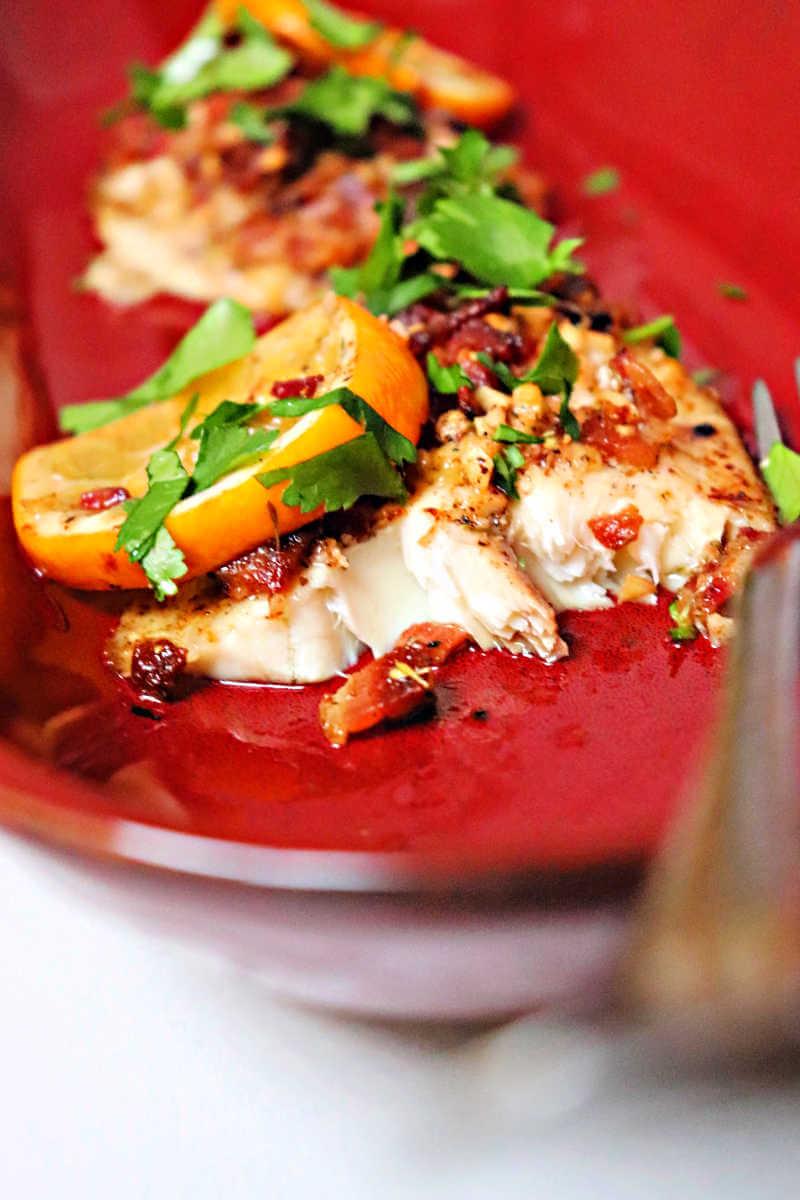 Bacon smothered keto tilapia #ketorecipes #ketodinners #ketofish