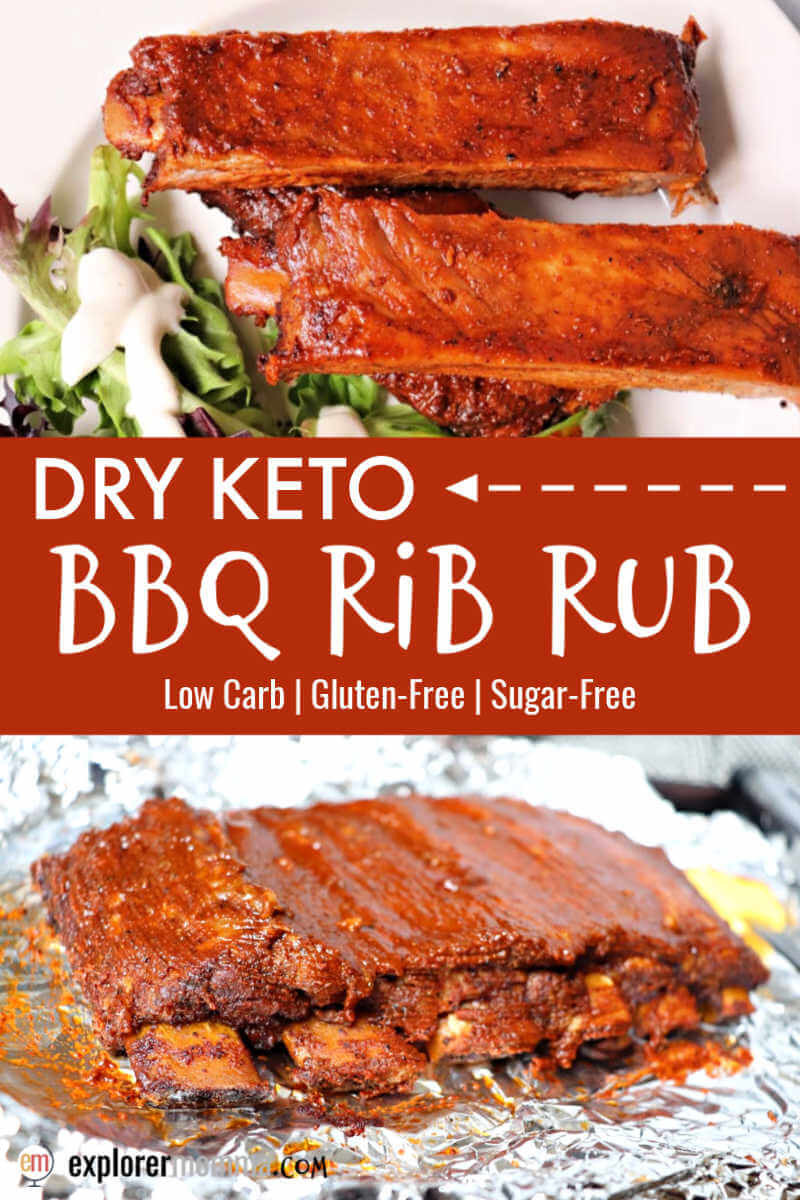 Dry keto rib rub for BBQ pork ribs. The perfect low carb dinner recipe with southern-style spice and gluten-free goodness. #ketoribs #ketorecipes #ketodinners