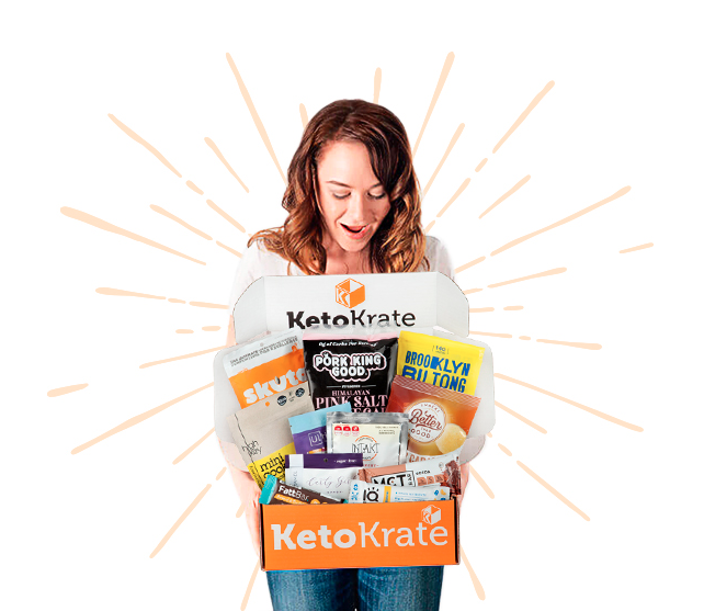 Keto Krate box example for review, unboxing