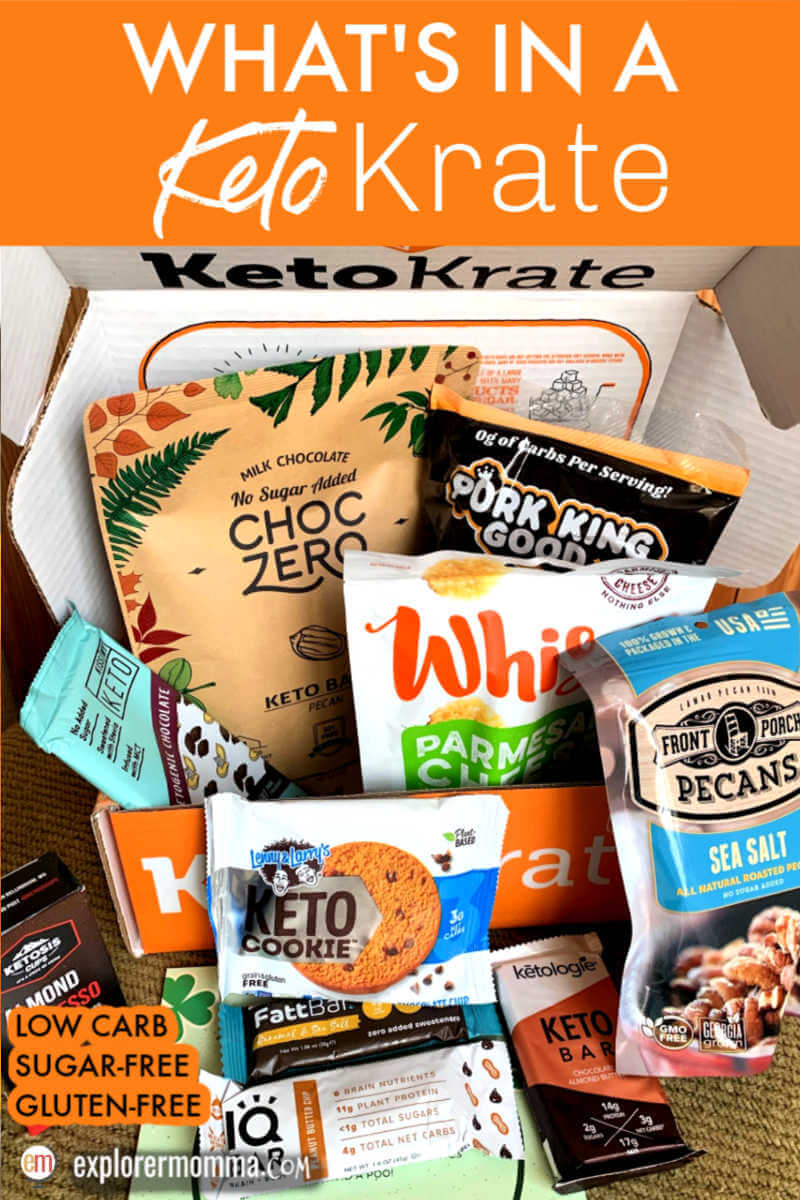What's in a Keto Krate? Let's review this low carb snack goodie box and find out what it's all about. #ketokrate #ketosnacks