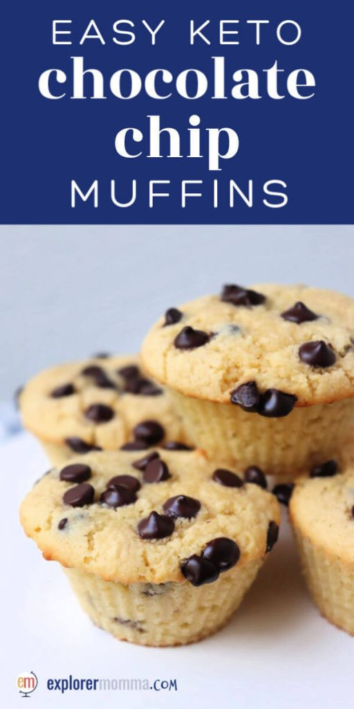 These are the best easy keto chocolate chip muffins! Perfect for a weekend keto breakfast or gluten-free side to your salad. #ketorecipes #ketomuffins