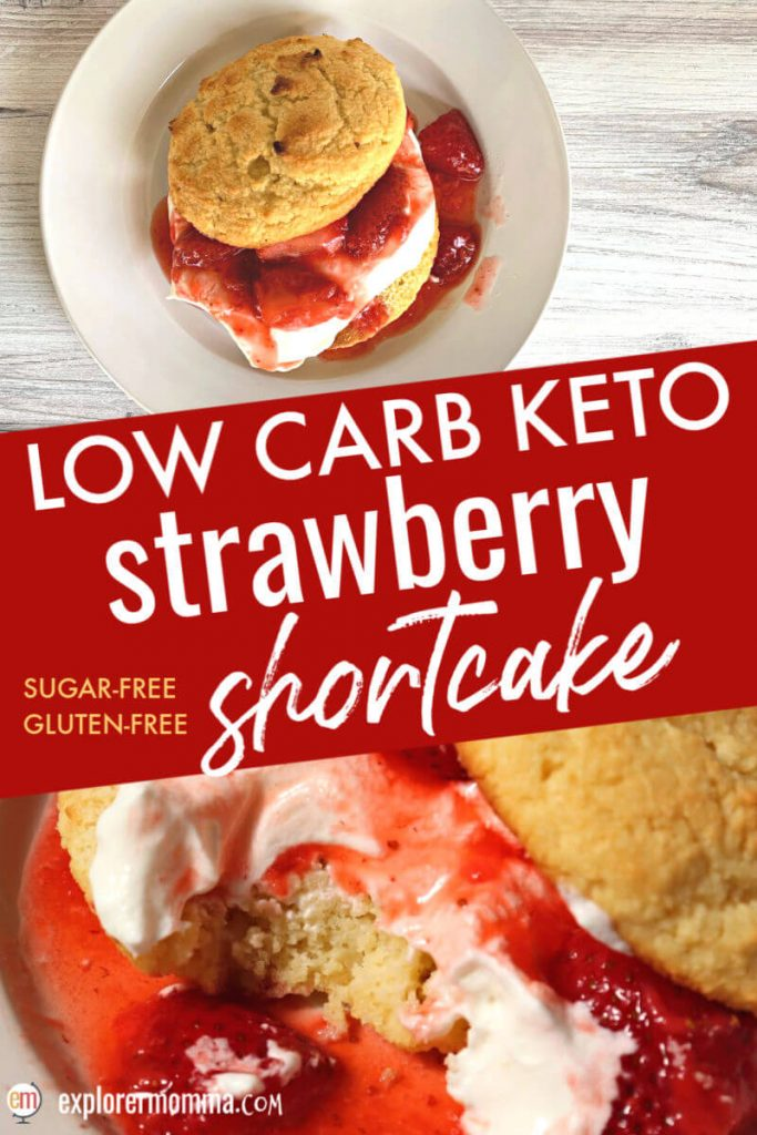 Classic strawberries and cream with a low carb shortcake. Keto strawberry shortcake is gluten-free, sugar-free and pops with flavor. The perfect keto dessert. #ketorecipes #ketodesserts