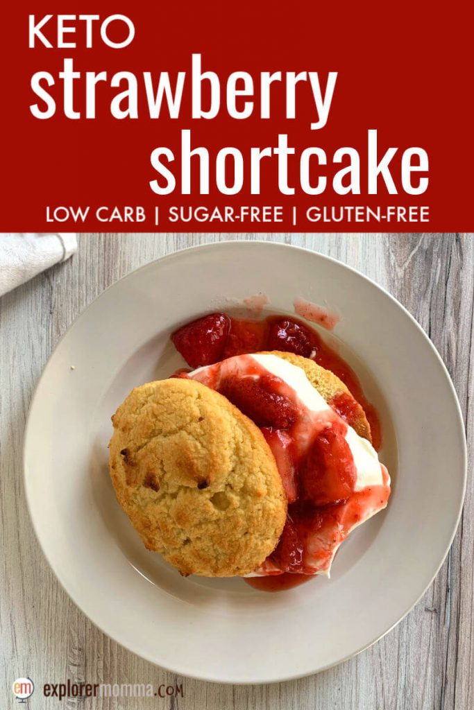 Delicious and classic keto strawberry shortcake delivers on flavor and summer fun. Gluten-free and sugar-free, this is a summer low carb dessert keeper! #ketodessertrecipes #ketorecipes