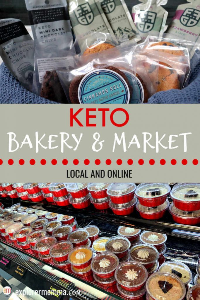 Online keto bakery and market or pick up your order on site! Delicious gluten-free, sugar-free treats and fun to explore. #ketobakery #ketosnacks