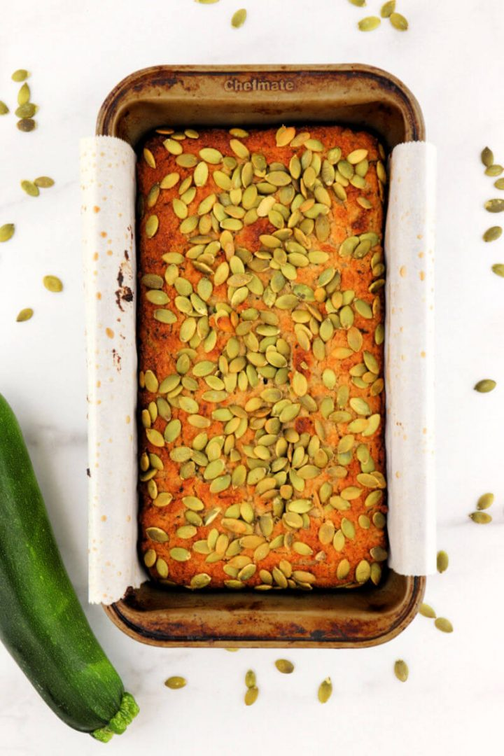Baked delicious and easy, the best every keto zucchini bread recipe for a low carb breakfast or snack.