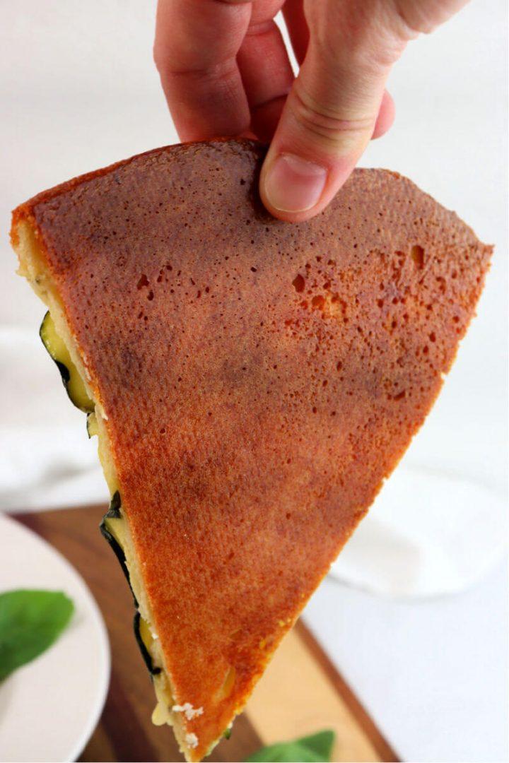 Bake of baked keto pizza dough