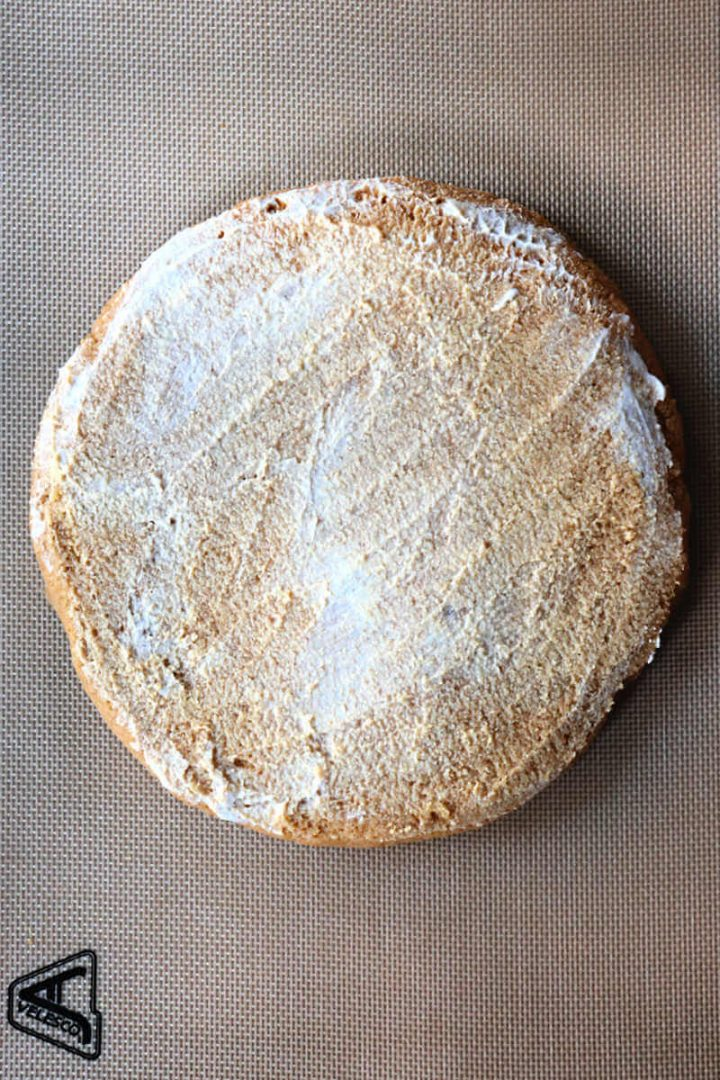 Keto pumpkin scone dough topped with heavy cream