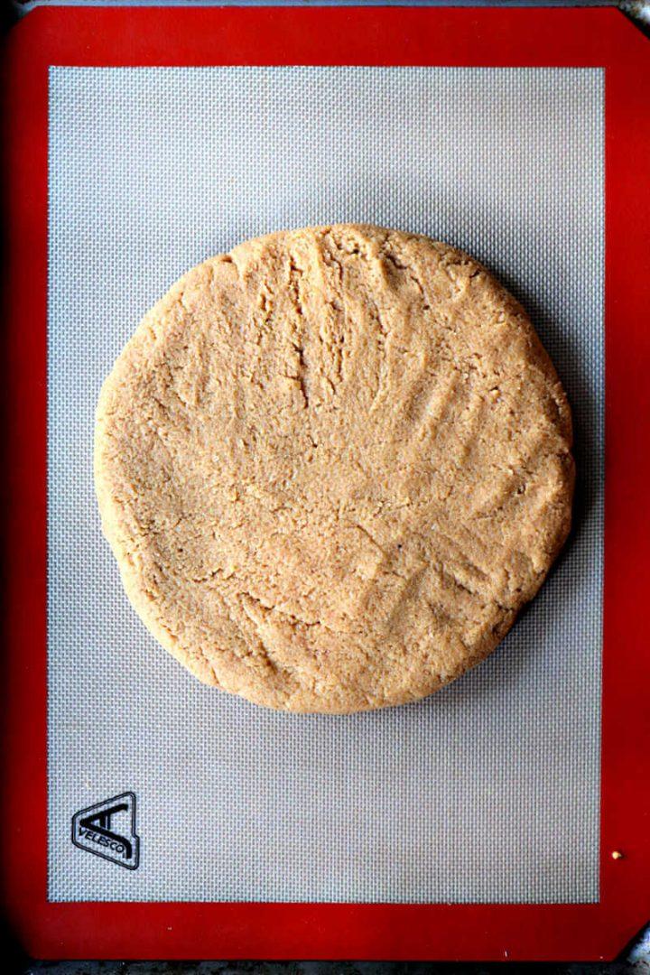 Overhead keto pumpkin scone dough