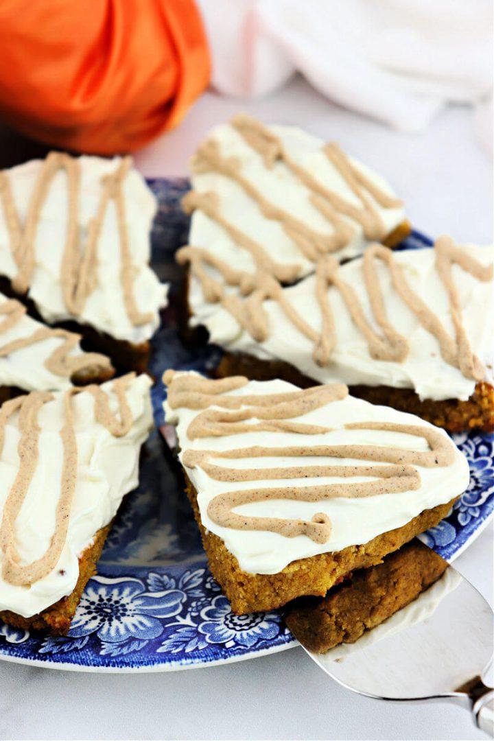 Keto pumpkin scones with serving spatula