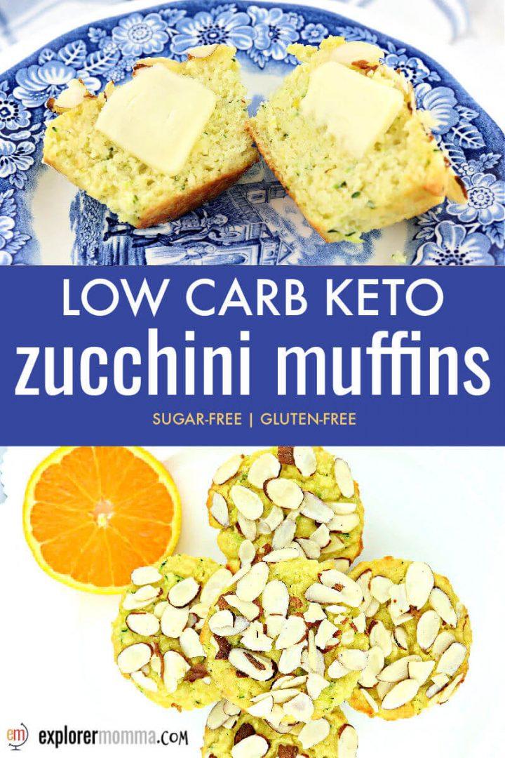 Easy orange almond keto zucchini muffins