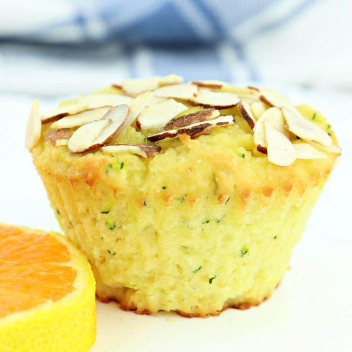Orange almond keto zucchini muffin