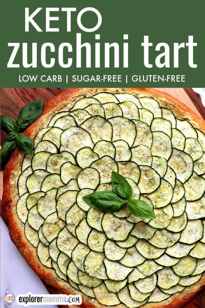 Keto zucchini tart pizza