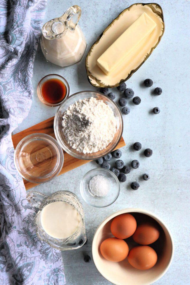 Ingredients for keto flan