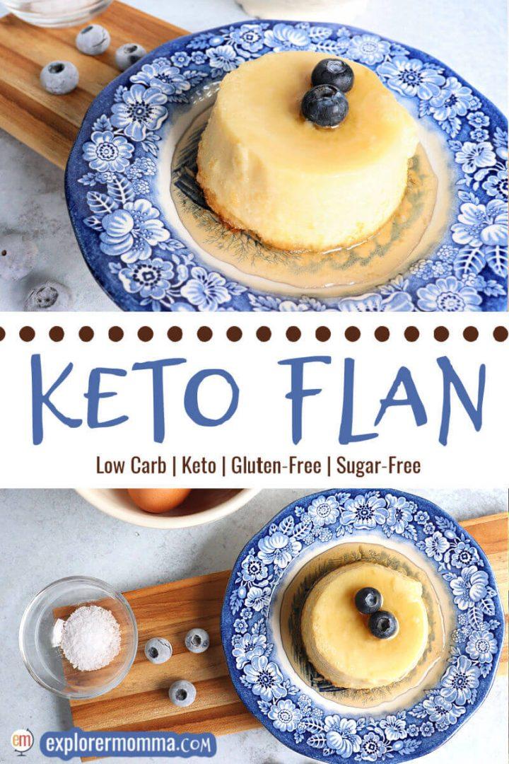 Keto Flan on a plate