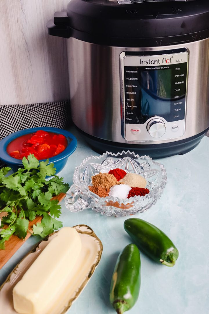 Instant Pot with ingredients