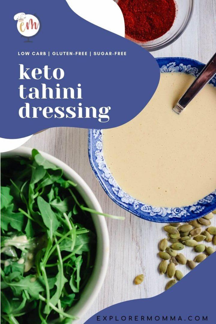 Keto tahini dressing with salad