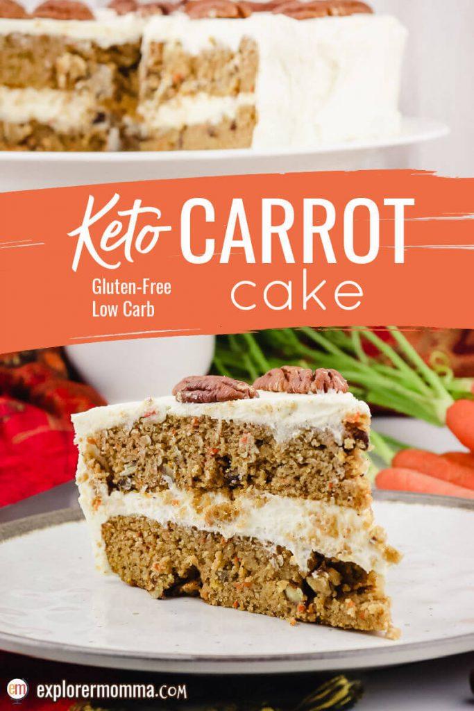 Piece of spiced keto carrot cake