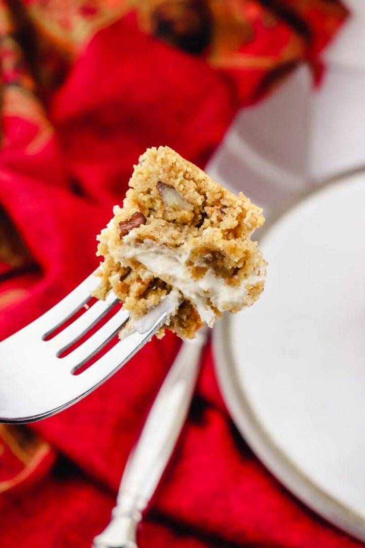 Bite of keto carrot cake