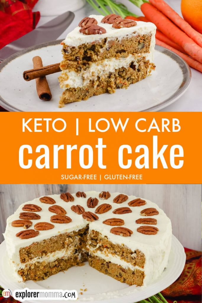 Spiced keto carrot cake pin