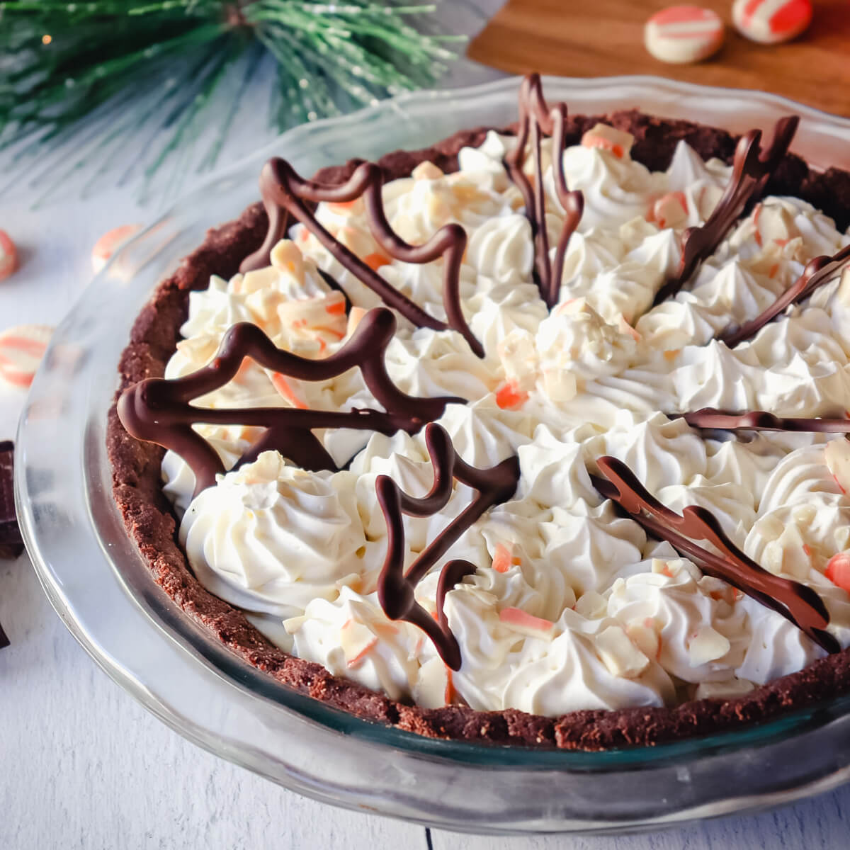Keto Peppermint Cream Pie