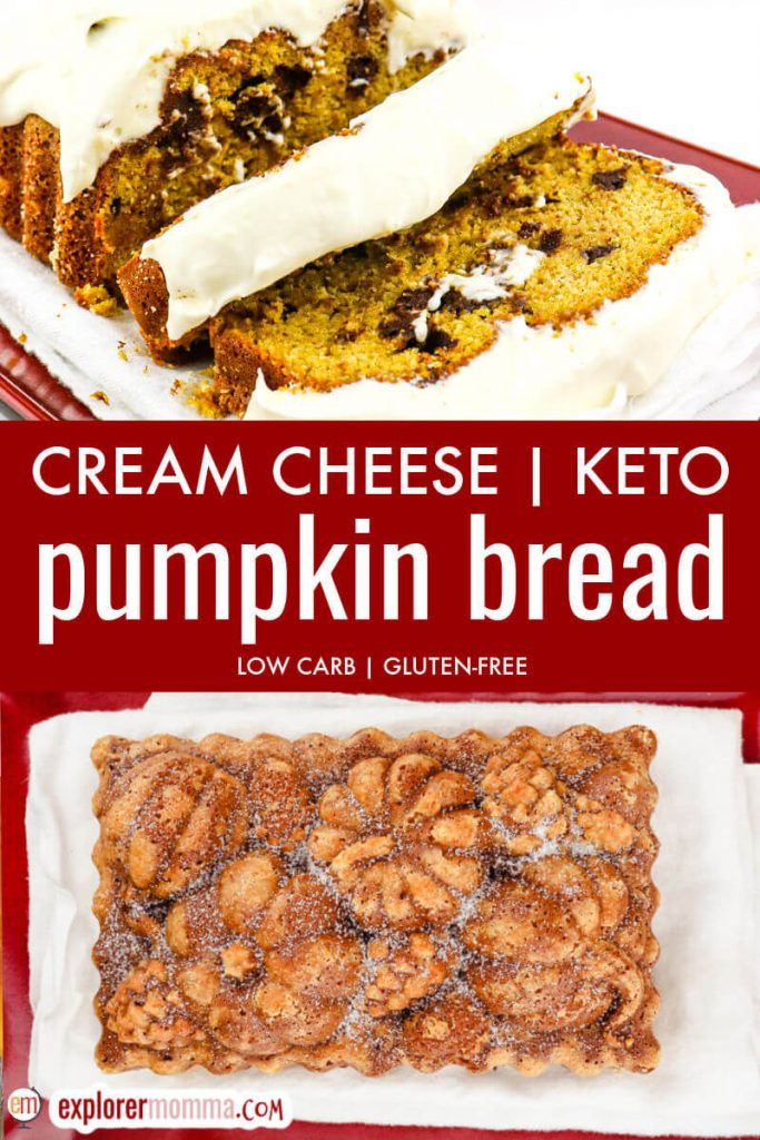 Cream cheese keto pumpkin bread