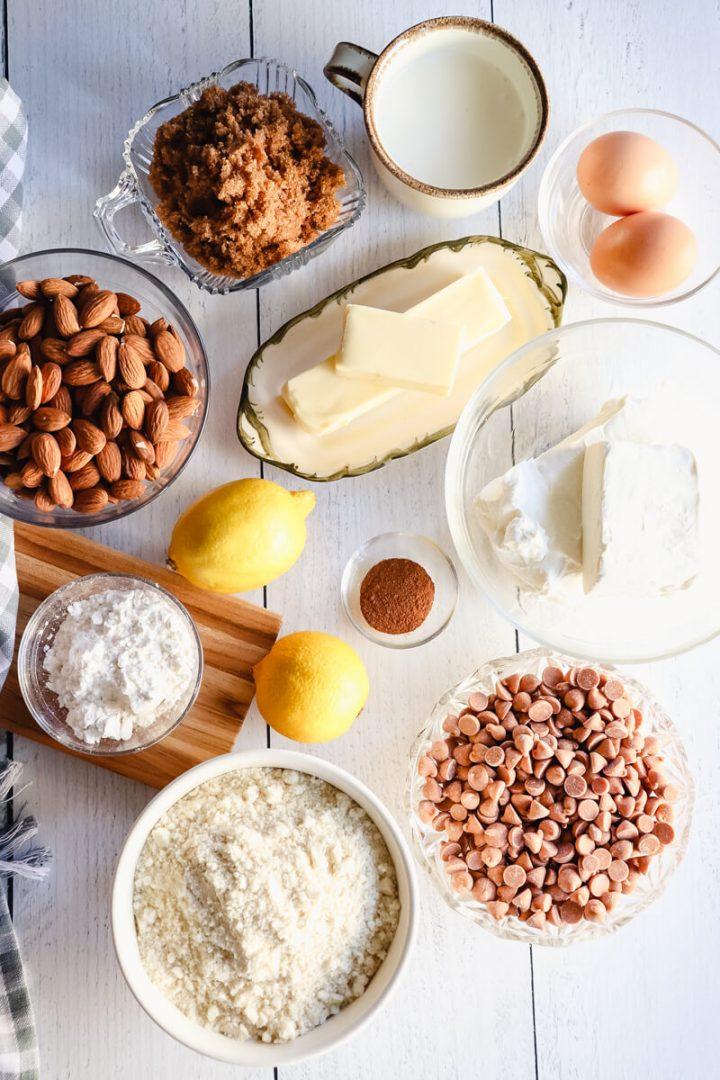 Keto cheesecake butterscotch bar ingredients