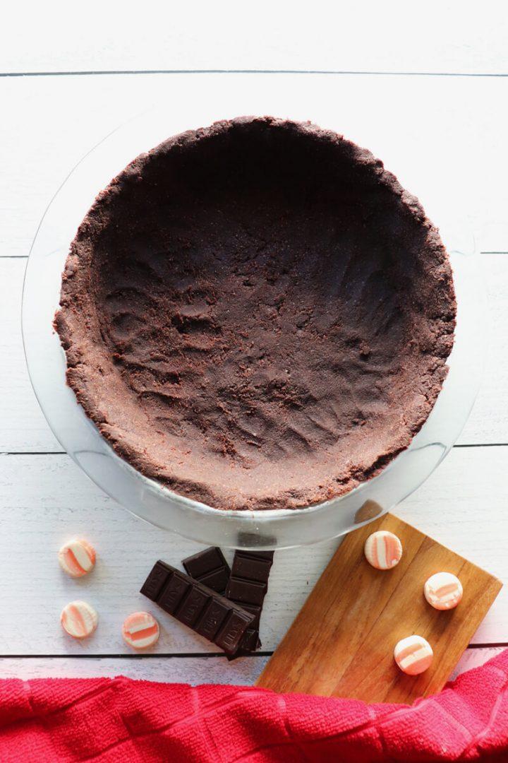 Keto gluten-free chocolate almond flour pie crust