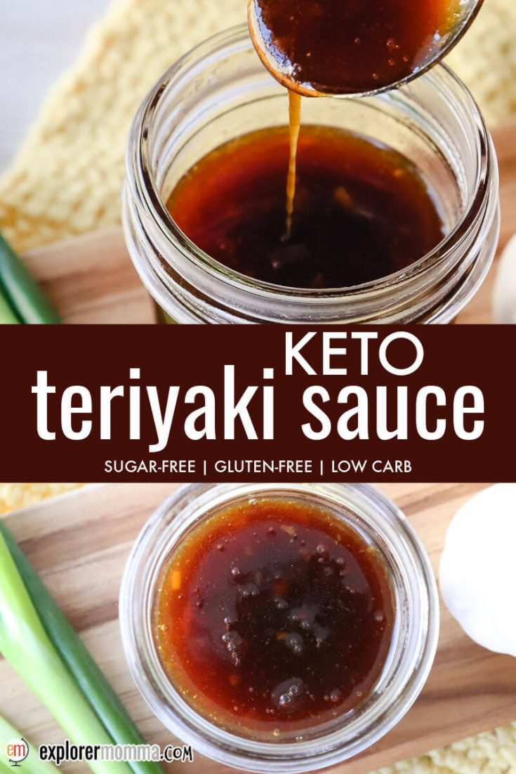 Keto teriyaki sauce in a jar