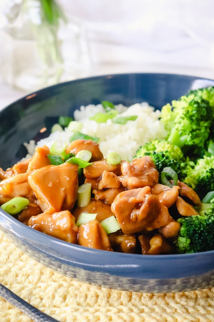 Keto teriyaki chicken with broccoli