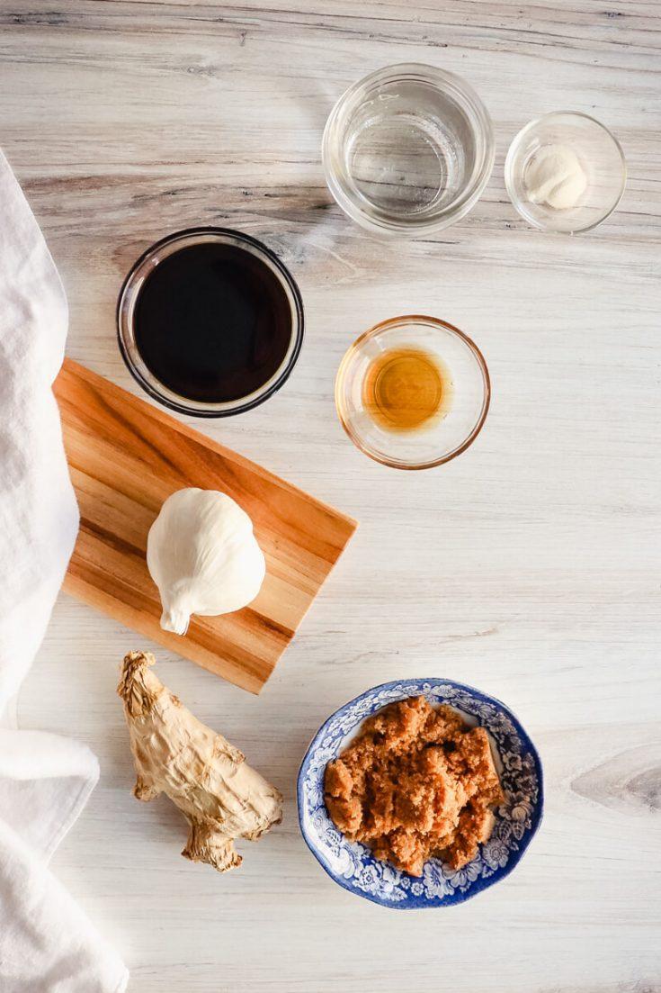 Ingredients in keto teriyaki sauce