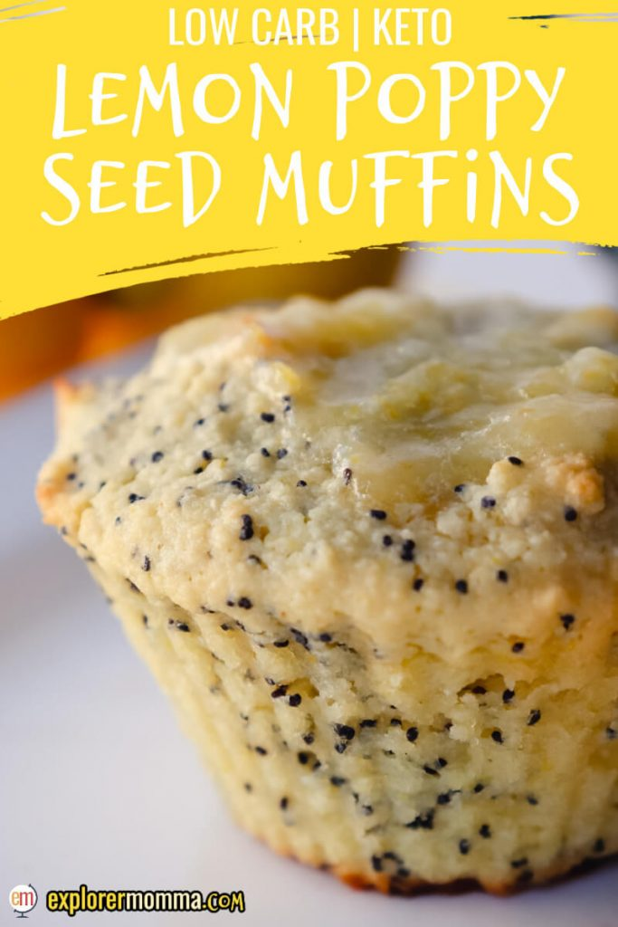 Keto lemon poppy seed muffin on a plate