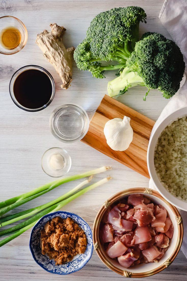 Ingredients in keto teriyaki chicken
