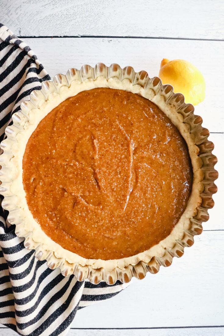 keto treacle tart ready to bake